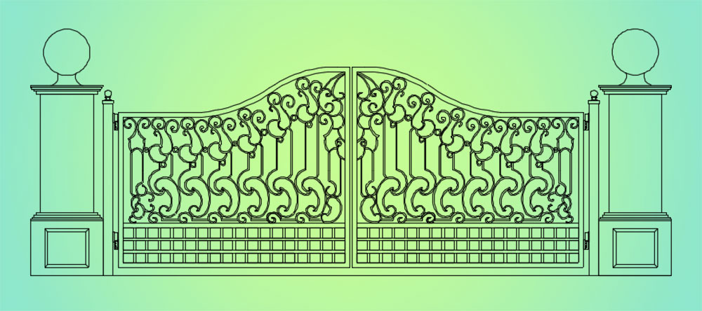 FabCAD Gate Drawing